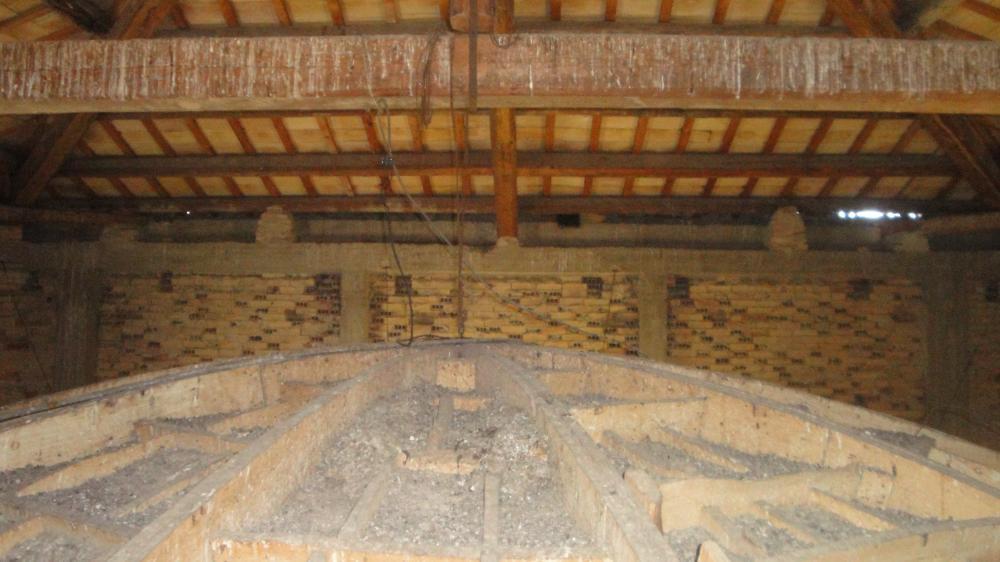 Centinatura cupola interna in gesso - Chiesa Maria SS. Assunta Tollo (CH)