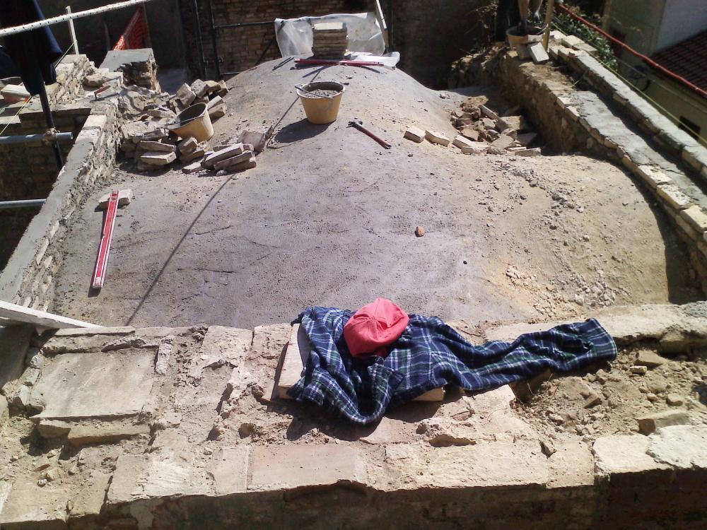 Consolidamento e ampliamento Museo del Vino Provincia di Chieti - Consolidamento estradosso volta in muratura a crociera - Tollo (CH)